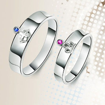 Matching Pair of Engagement Rings Set for Couples - GULLEITRUSTMART.COM