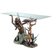 SPI Home Collection Mermaid Console Table