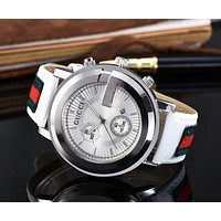 """Hot Sale """"GUCCI"""" Trending Ladies Men Stylish Leather Movement Watch Business Watches Wristwatch I/A"""