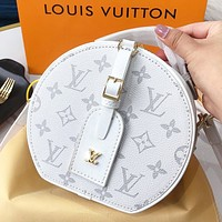 LV New fashion monogram print leather shoulder bag crossbody bag handbag White