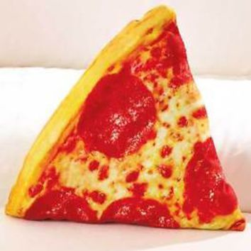 Food Fight Throw Pillow Pizza Shaped Pillow Fun For Kids Bedroom Sleepover