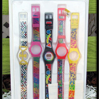 Vintage watch 1980s Lisa Frank DEADSTOCk mix and match set