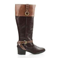 Candice By Classified, Ankle Harness Mid Calf Riding Boots