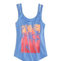 AEO FACTORY DOUBLE STRAP GRAPHIC TANK