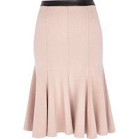 River Island Womens Light pink fit and flare midi skirt