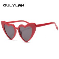 Oulylan 2018 Fashion Love Heart Sunglasses Women Vintage Cat Eye Sun Glasses Best gift for Christmas Birthday Glasses for Women