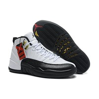 Air Jordan 12 Retro Xii Aj12 Black/white Basketball Shoes Size Us8 12