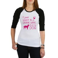 Drink Wine and Pet Dog Baseball Jersey