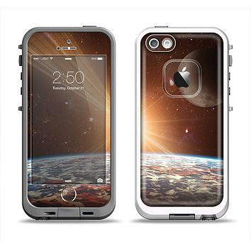 The Earth, Moon and Sun Space Scene Apple iPhone 5-5s LifeProof Fre Case Skin Set