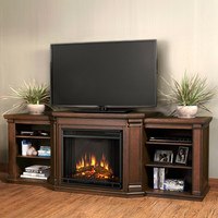 """Woodbridge Home Designs 76"""" TV Stand with Electric Fireplace"""