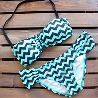 Final Sale - Chevron Bikini | Mint