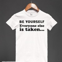 Be Yourself-Female White T-Shirt