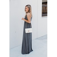 Modestly Posed Racerback Maxi (Charcoal)