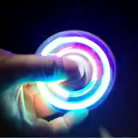 Funny LED Light Hand Finger Spinner Fidget Plastic EDC Hand Spinner