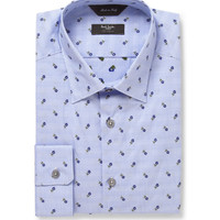 Paul Smith London - Blue Flower-Embroidered Cotton Shirt | MR PORTER
