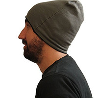 Rue21 Carbon Reversible Beanie Hat Solid Dark Gray or Gray & Black