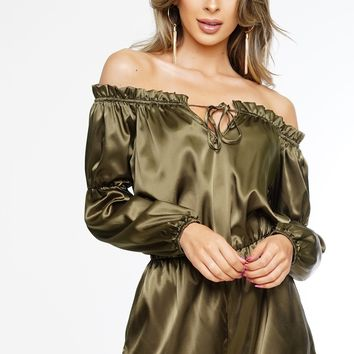 Lizzy Romper - Olive