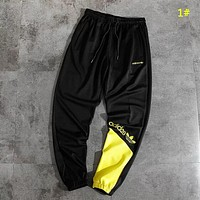Adidas Fashion New Embroidery Letter Leaf Women Men Sports Leisure Pants 1#