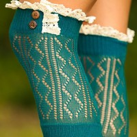 Finishing Touch Boot Cuff-Deep Sea