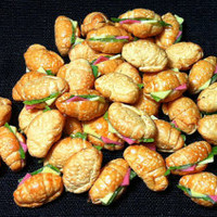 20 Miniature Ham Cheese Salad Croissants Clay Polymer Bread Bakery Snack Cute Little Tiny Small Dollhouse Sandwich Supply Food Jewelry Beads