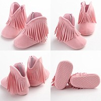 Baby First Walker Shoes Cute Baby Kids Tassel Soft Sole walker Shoes Infant Boy Girl