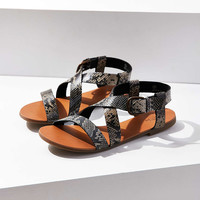Maddie Faux Python Leather Sandal - Urban Outfitters