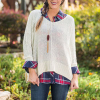 Perfect Weather Sweater, Ivory