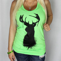 Luckless Clothing Co | Neon Green Buck Tank