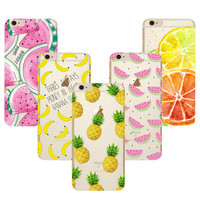 Fruit Pineapple TPU Soft Silicon Transparent Clear Case Coque For Apple iPhone 7 4 4S 5 5S 5C SE 6 6S 7 Plus Phone Cases Cover