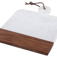White Marble & Wood Paddle Board
