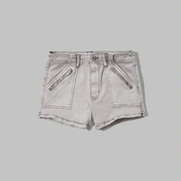 a&f high rise military shorts