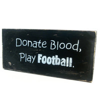 Gifts for men. FOOTBALL Man Cave sign. Primitive, Distressed and rustic.