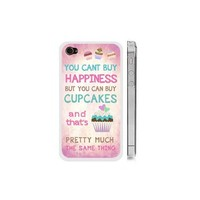 """Cupcake iPhone 4 4s Case - Pink and White """"Keep Calm and Have a Cupcake"""" iPhone Case"""