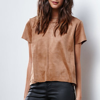 MinkPink Truth Potion Seemed Faux Suede T-Shirt at PacSun.com