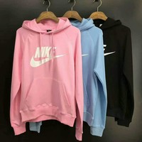 Nike Women Fashion Hooded Top Pullover Sweater Sweatshirt Hoodie One-nice™
