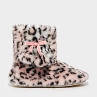 New Look Nelly Amimal Faux Fur Slipper Boots