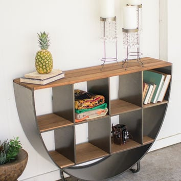 Iron and Wood Wall Console