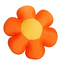 DaDa Bedding Squishy & Soft Groovy Flower Throw Micro-Bead Cushion Pillow - Orange - 18""