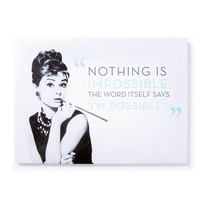 Audrey Hepburn Impossible Wall Canvas