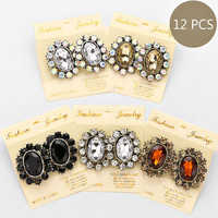 Rhinestone Vintage Fashion Bundle Earrings