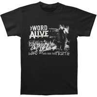 Word Alive Men's  Wake Up T-shirt Black Rockabilia