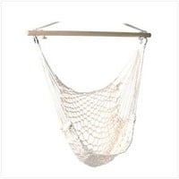 Cotton Rope Hammock Cradle Chair With Wood Stretcher
