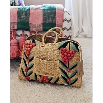 Vintage 70's Woven Tote