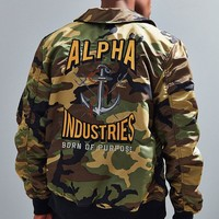 Alpha Industries Embroidered Triton Bomber Jacket | Urban Outfitters