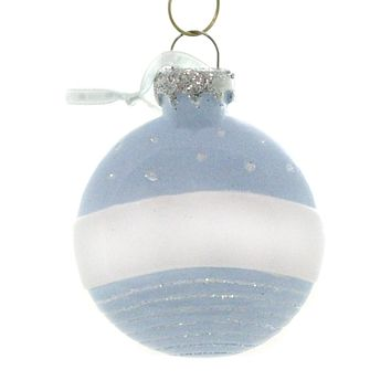 Personalized Ornaments CHRISTMAS BALL BLUE Resin Baby OR900B