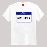 Hello My Name is Mrs Grier, Mendes or Caniff...  Youth-2 XL Short Sleeve TShirt