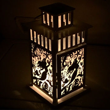 Little Mermaid Inspired Patterned Metal Lantern
