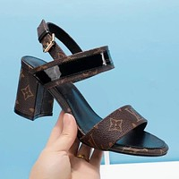 LV Louis Vuitton Trending Women Stylish Princess High Heels Sandals I-ALS-XZ
