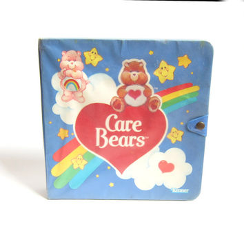 Care Bears Storybook Play Case Vintage Miniature Storage & Display Book for Toys