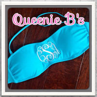 Monogram Bandeau Swimsuit Top - 12 Colors To Choose From!